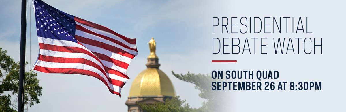 Presidential Debate - Watch On South Quad Sept